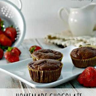 Fresh Strawberry Chocolate Muffins.
