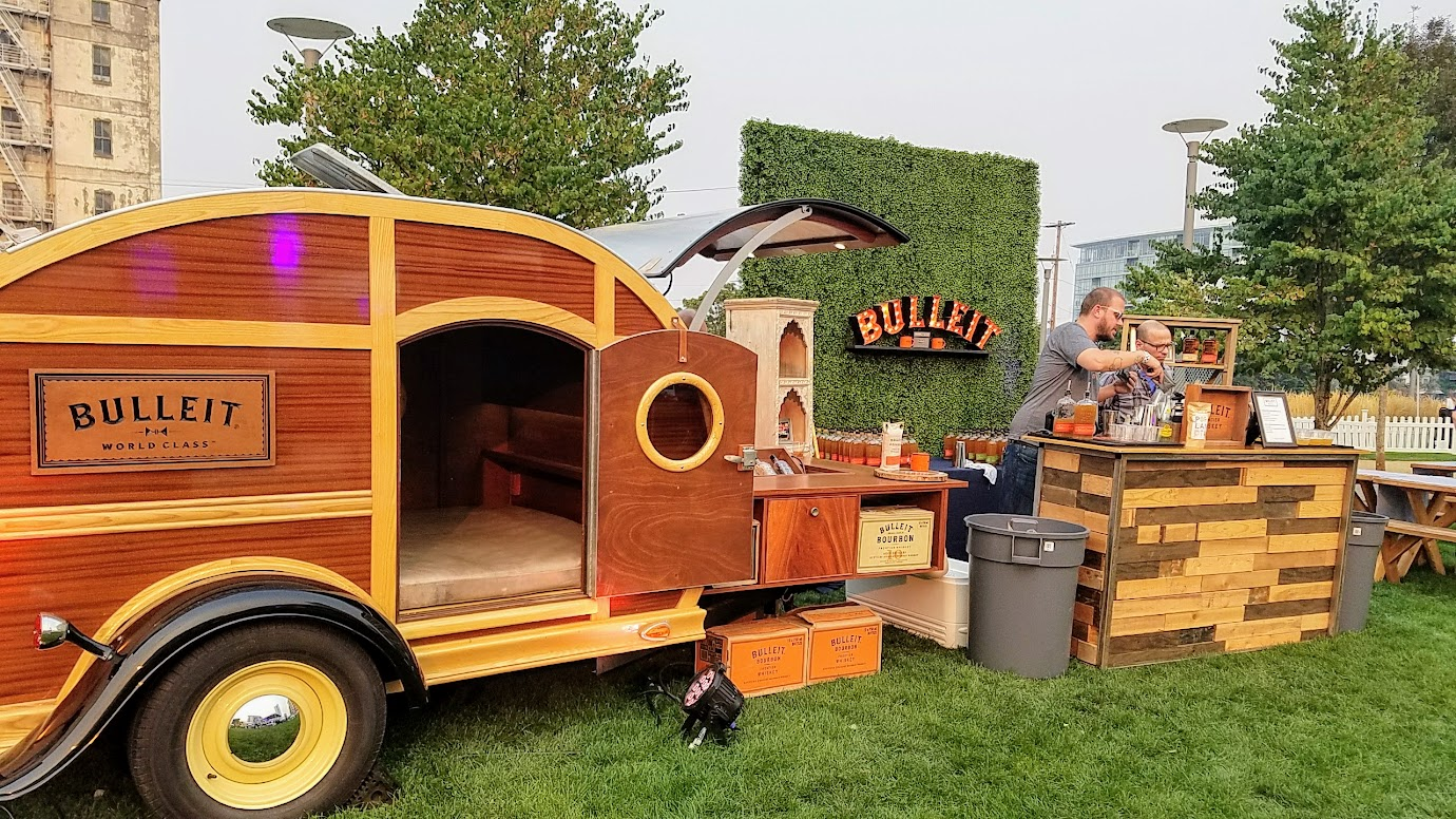 The Bulleit Whiskey booth at Feast PDX Smoked 2017