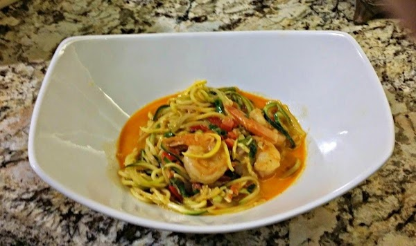 Curry Shrimp With Vegetable Noodles Recipe