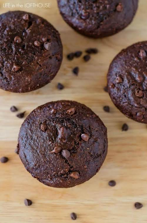 "Skinny Double Chocolate Muffins ""I have tried low-fat muffins and do not..."