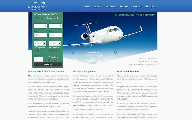 Monarch Air Group - Private Jet Service
