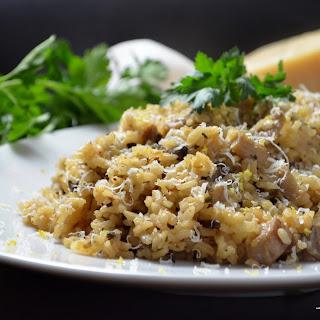 Simple Basic Mushroom Risotto