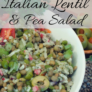 Italian Lentil and Pea Salad