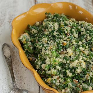 Quinoa with Kale, Pistachios and Raisins