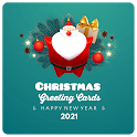 Christmas Greeting Cards, New Year 2021 icon