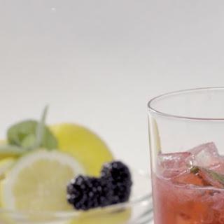 Sparkling Blackberry Mint Lemonade.