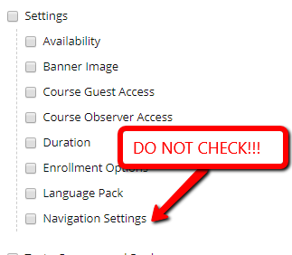 Scholar Import Package Navigation Settings DO NOT PICK