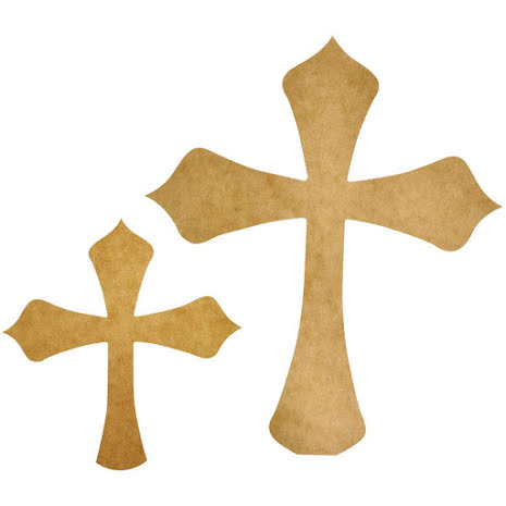 Kaisercraft Beyond The Page MDF - Decorative Crosses 2/Pkg