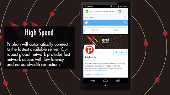 Psiphon Pro Mod APK – The Internet Freedom VPN 4