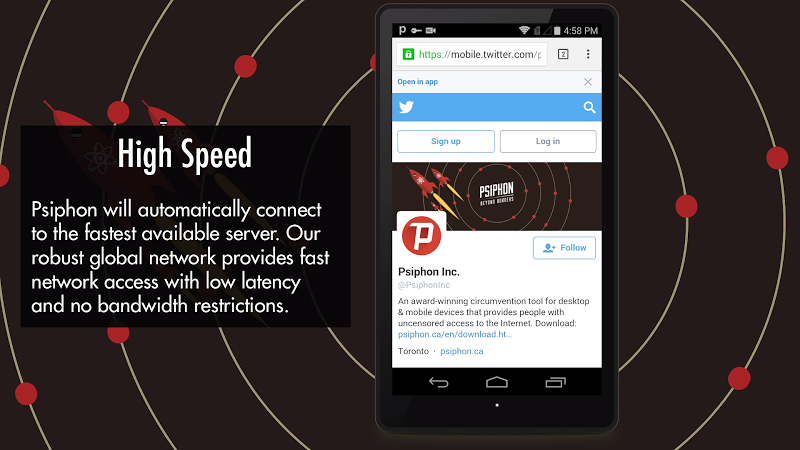 Psiphon Pro - The Internet Freedom VPN Screenshot 3