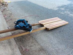 Photo: the two oars take initial shape