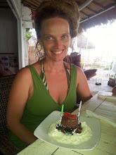 Photo: birthday brownie