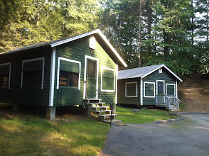 Photo: A view of some of the Midget cabins. In Cottington Woods, this is NPC/Cast Housing.