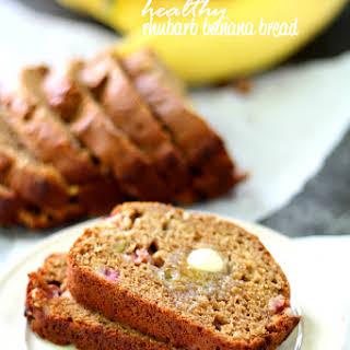 Healthy Rhubarb Banana Bread.
