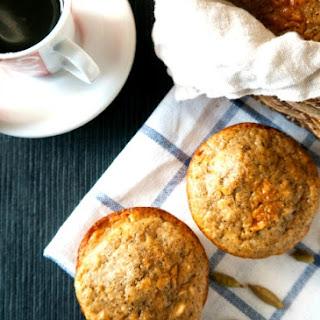 Espresso Cardamom Oat Muffins