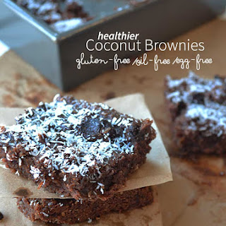 Coconut Brownies (gluten-free, oil-free, egg-free)