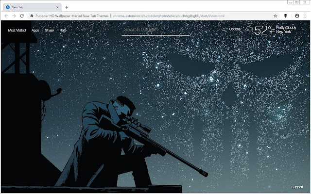Punisher HD Wallpaper Marvel New Tab Themes