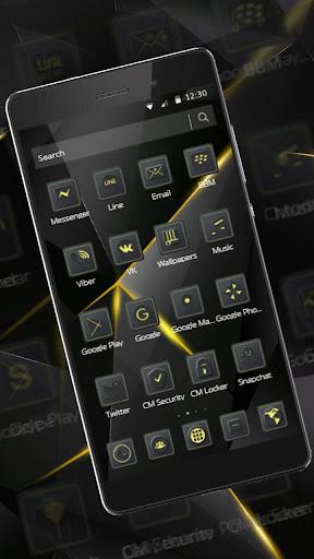 Black Luxury Theme for Huawei screenshot 2