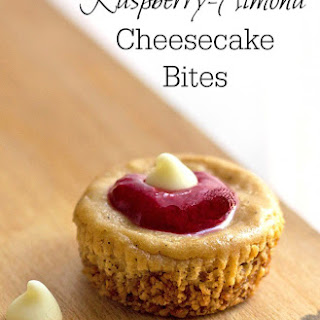 Raspberry Almond Low Carb Cheesecake Bites