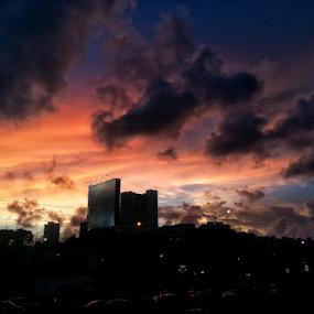 Mumbai monsoon by Shikhar Sharma - Instagram & Mobile Android ( clouds, mumbai, monsoon, sunset, twilight, shikahrf8, dusk )