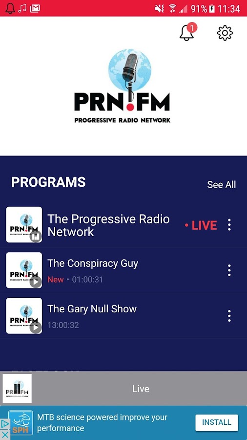 The Progressive Radio Network- screenshot