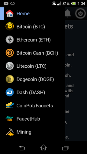 Faucets CryptoCoins screenshot