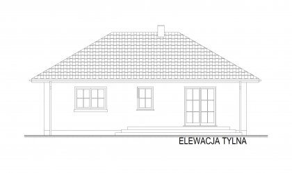 Domek Miodowy-M - Elewacja tylna