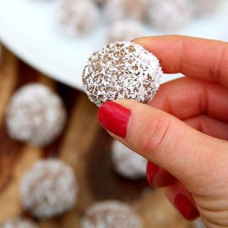 Chocolate Almond Coconut Protein Balls.