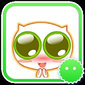 Stickey Big Eye Cat