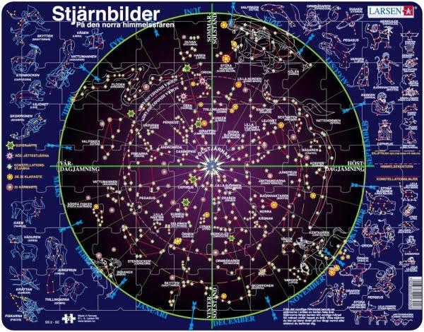 Larsen Pussel Stjärnbilder - 70 bitar