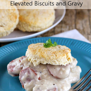 Elevated Biscuits and Gravy with Italian Sausage and Mushrooms