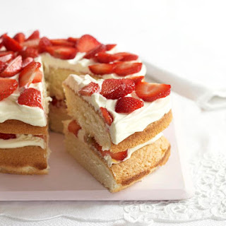 Strawberry and Cream Sponge Cake.