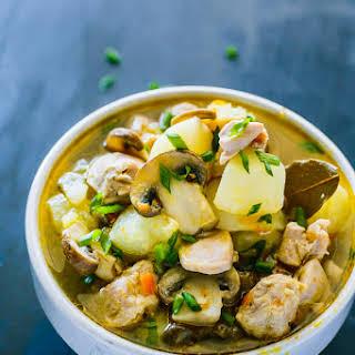 One Pot Meal - Zucchini Mushroom Chicken Stew.