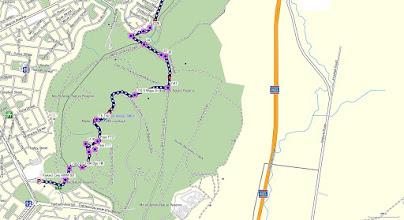 Photo: South part - Blue=Walk 10.9km - GPS map view on map base using open source Open Steet Maps (OSM) NSW Cycle garmin map - gps, kml files are located in Google Drive: https://drive.google.com/folderview?id=0B3KACTzeu2lANTA3NWM4NmItMjYyOC00MDAxLTk3ZDEtNzEzMjQ5MDViZGIw&usp=sharing