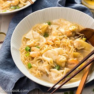 Cantonese Wonton Noodle Soup (港式云吞面).