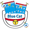 Cartoon Blue Cat Theme icon