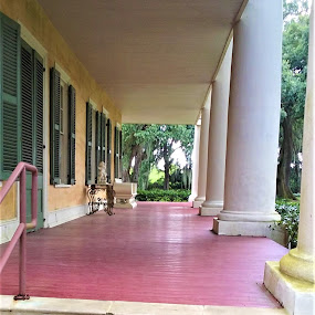 The Grand Porch by Denise DuBos - Buildings & Architecture Public & Historical ( refreshing drink, porch, rocking chairs, breeze, swings )