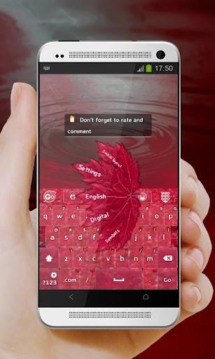 【免費個人化App】血腥的秋天 GO Keyboard-APP點子