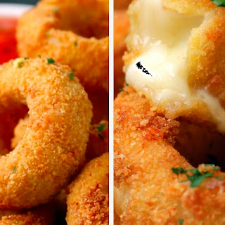 12. Mozzarella Stick Onion Rings