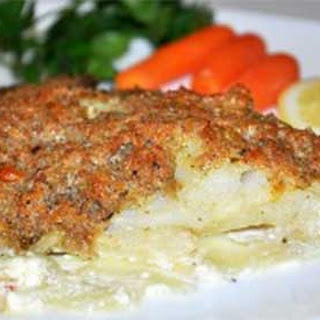 Baked Tilapia with Cream Bread Crust