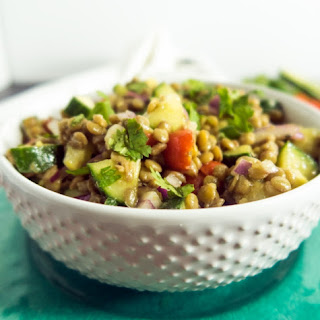 Lentil Bean Cucumber Salad.