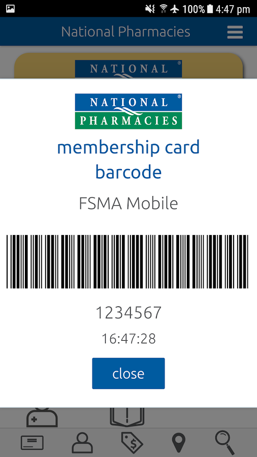 National Pharmacies- screenshot