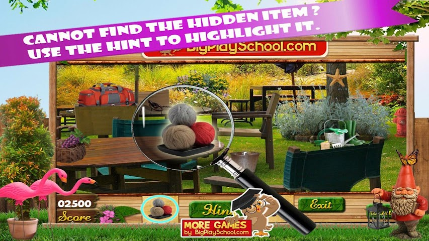 android Backyard Fun New Hidden Object Screenshot 1