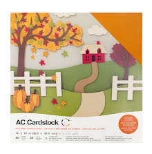 American Crafts Textured Cardstock Pack 12X12 60/Pkg - Autumn