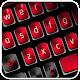 Clavier rouge noir icon
