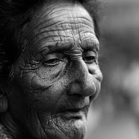 Worry lines by Rob Rickman - People Portraits of Women ( old, woman, age,  )