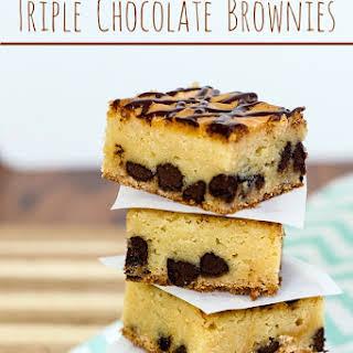 Triple Chocolate Brownies.