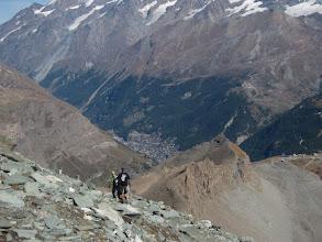 Photo: It's a long way down to Zermatt.
