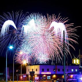 Livonia Spree Fireworks #2 by Kimberly Davidson - Public Holidays July 4th ( fireworks, 4th of july, holidays, night sc )