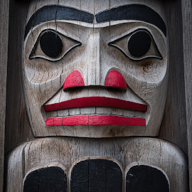 Totem by Garry Dosa - Artistic Objects Other Objects ( symbolic, canada day, outdoors, indigenous, wood, carving, july 1, ceremonial, object,  )